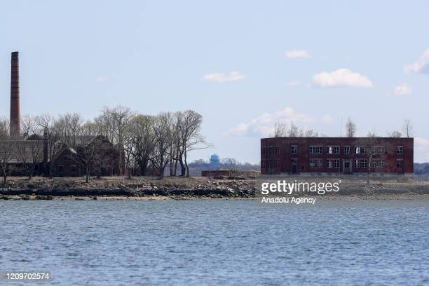 Hart Island where unclaimed coronavirus bodies buried is seen in New York United States on April 11 2020