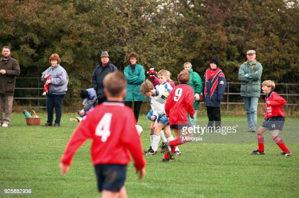 Hartburn Juniors v Leven Park Juniors . Action from the game with Hartburn in white shirts, 16th October 1994.