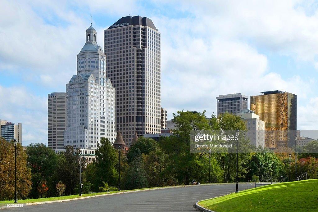 Hartford Connecticut downtown city skyline : ストックフォト