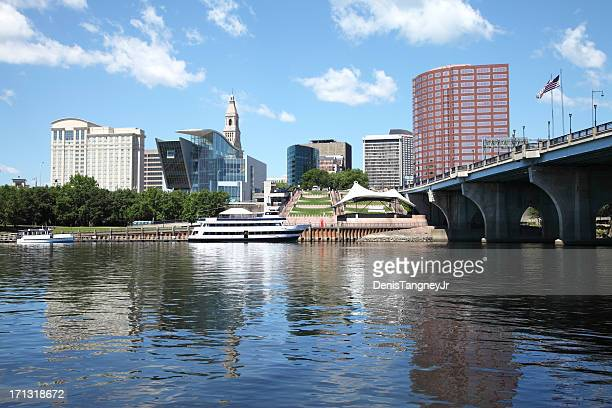 hartford riverfront - hartford connecticut stock pictures, royalty-free photos & images