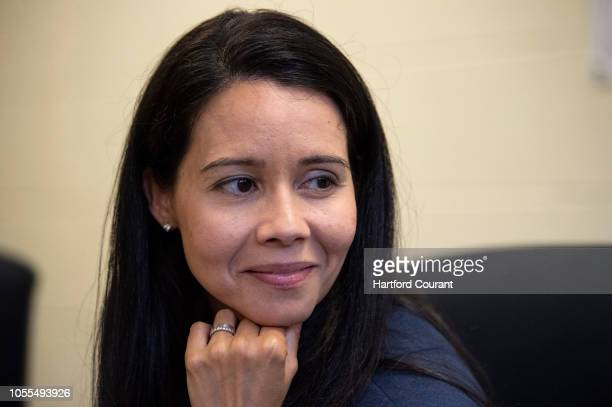 Hartford Superintendent of Schools Leslie TorresRodriguez listens to thirdgrader Karla Roman at Maria Sanchez Elementary School on Tuesday Oct 2 2018...