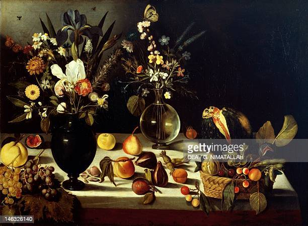 Hartford Wadsworth Atheneum Museum Of Art Still life with flowers and fruit by Michelangelo Merisi da Caravaggio