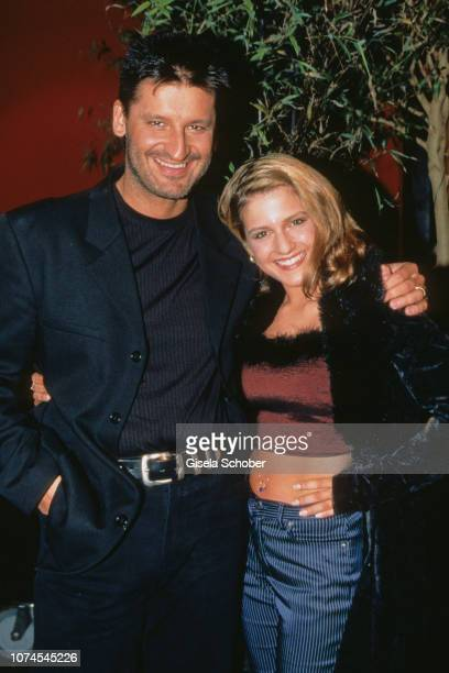Hartmut Engler and Jeanette Biedermann attend the 50 years Made in Germany Event in March 1999 in Germany