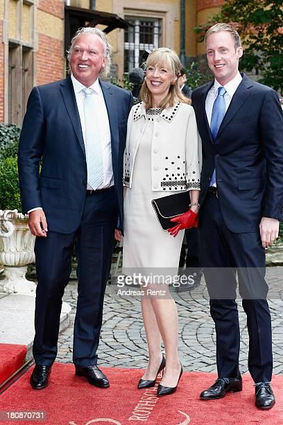 Hartmut Lademacher Gabriele LademacherSchneider and Felix Lademacher attend the Civil Wedding Of Prince Felix Of Luxembourg Claire Lademacher at...