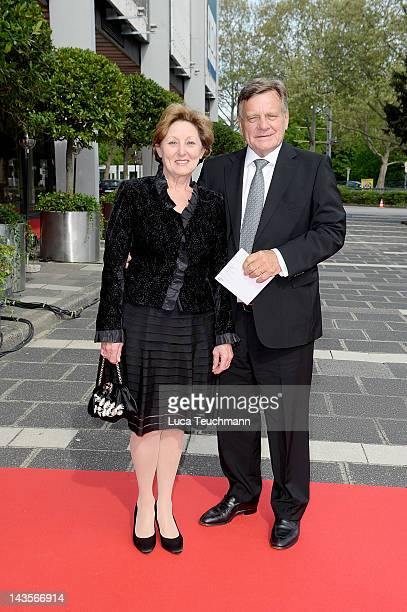 Hartmut Mehdorn and Helene Mehdorn attend 40 Years Of Helping the world Run Better' Charity Gala Concert on April 29 2012 in Mannheim Germany