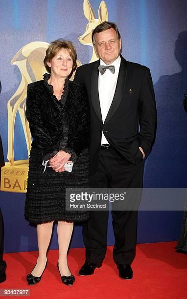 Hartmut Mehdorn and wife Helene arrive for the Bambi Awards 2009 at the Metropolis hall at Filmpark Babelsberg on November 26 2009 in Potsdam Germany
