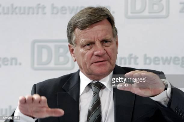Hartmut Mehdorn CEO Deutsche Bahn AG DB Germany