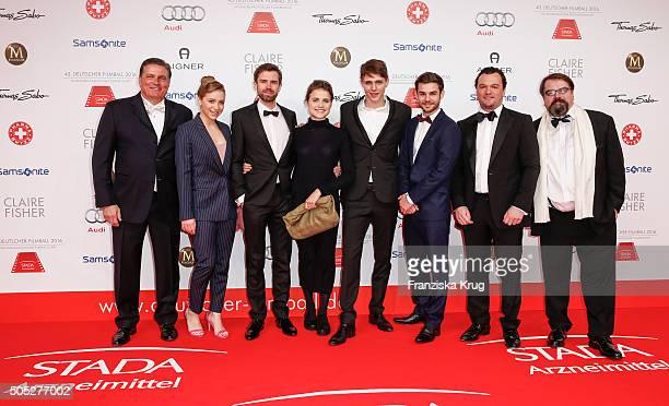 Hartmut Retzlaff, Lena Klenke, Christian Bach, Mala Emde, Merlin Rose, Lucas Reiber, Steffen Retzlaff and Alfred Holighaus during the German Film...