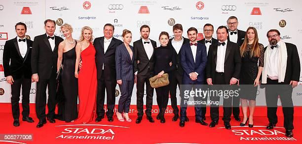Hartmut Retzlaff, Lena Klenke, Christian Bach, Mala Emde, Merlin Rose, Lucas Reiber, Steffen Retzlaff and Alfred Holighaus and guests during the...