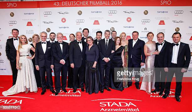 Hartmut Retzlaff Steffen Retzlaff and guests during the German Film Ball 2016 at Hotel Bayerischer Hof on January 16 2016 in Munich Germany