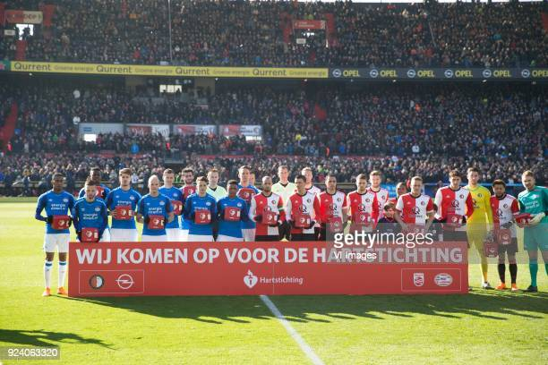 hartstichting aed during the Dutch Eredivisie match between Feyenoord Rotterdam and PSV Eindhoven at the Kuip on February 25 2018 in Rotterdam The...