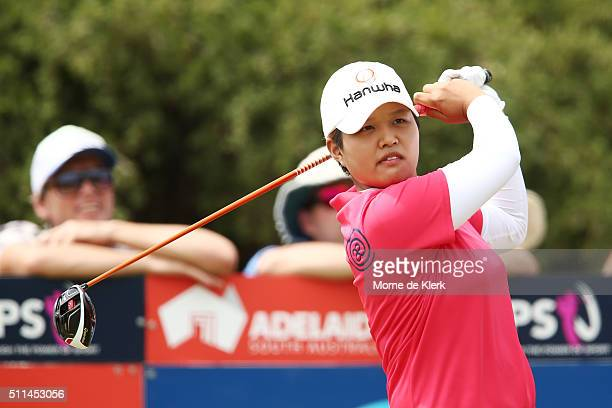Haru Nomura of Japan competes during day four of the ISPS Handa Women's Australian Open at The Grange GC on February 21 2016 in Adelaide Australia