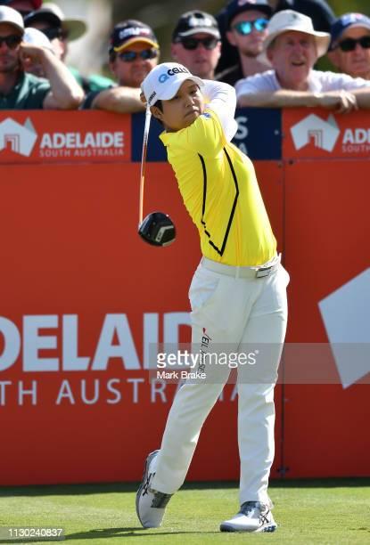 Haru Nomura of Japan during day four of the 2019 ISPS Handa Women's Australian Open at The Grange GC on February 17 2019 in Adelaide Australia