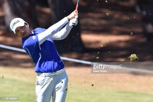 Haru Nomura of Japan during day two of the 2019 ISPS Handa Women's Australian Open The Grange GC on February 15 2019 in Adelaide Australia