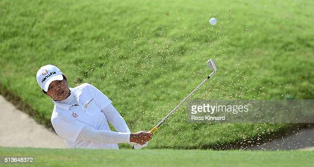 Haru Nomura of Japan in action during the second round of the HSBC Women's Champions at the Sentosa Golf Club on March 4 2016 in Singapore Singapore