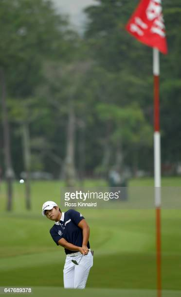 Haru Nomura of Japan on the 11th hole during the third round of HSBC Women's Champions on the Tanjong course at Sentosa Golf Club on March 4 2017 in...