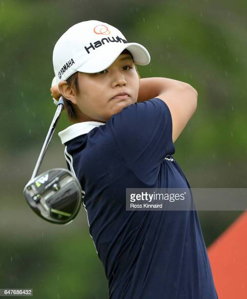 Haru Nomura of Japan on the 14th tee during the third round of HSBC Women's Champions on the Tanjong course at Sentosa Golf Club on March 4 2017 in...