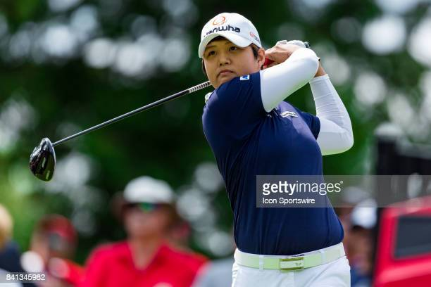 Haru Nomura tees off on the 1st hole during the second round of the Canadian Pacific Women's Open on August 25 2017 at The Ottawa Hunt and Golf Club...