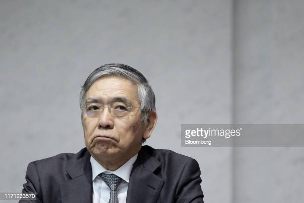 Haruhiko Kuroda, governor of the Bank of Japan , attends a Japan Securities Dealers Association event in Tokyo, Japan, on Thursday, Sept. 26, 2019....