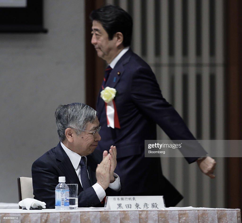 Bank of Japan Governor Haruhiko Kuroda and Other Speakers at Nippon Keidanren : ニュース写真