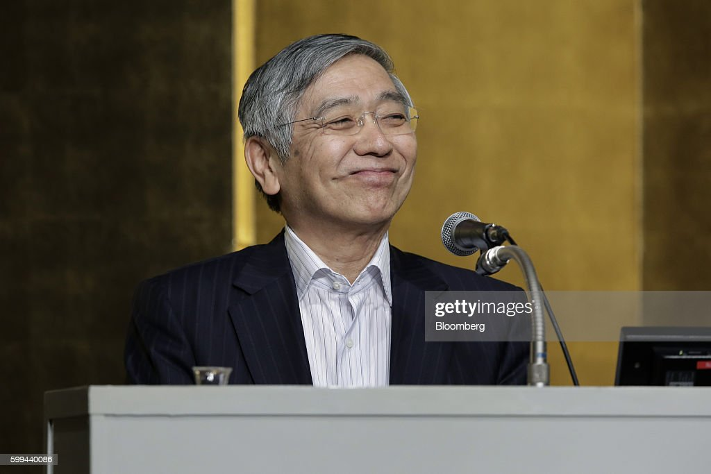 Bank Of Japan Governor Haruhiko Kuroda Speaks At The Kyodo News Meeting
