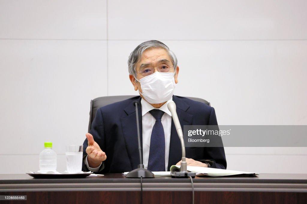 Kuroda Says BOJ to Keep Close Coordination With Suga Government : ニュース写真