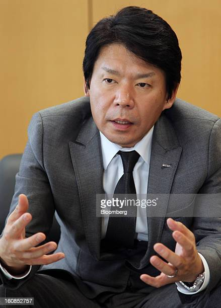 Haruhiro Tsujimoto president and chief operating officer of Capcom Co speaks during an interview at the company's office in Tokyo Japan on Wednesday...