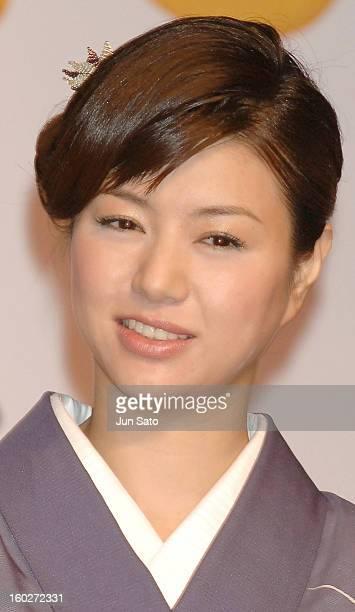 Haruka Igawa during Toei Company Announces the Production of 'OH OKU' with Yukie Nakama at Akasaka Prince Hotel in Tokyo Japan