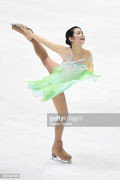 Haruka Imai of Japan competes in the Ladies short program during the Japan Figure Skating Championships 2016 on December 24 2016 in Kadoma Japan