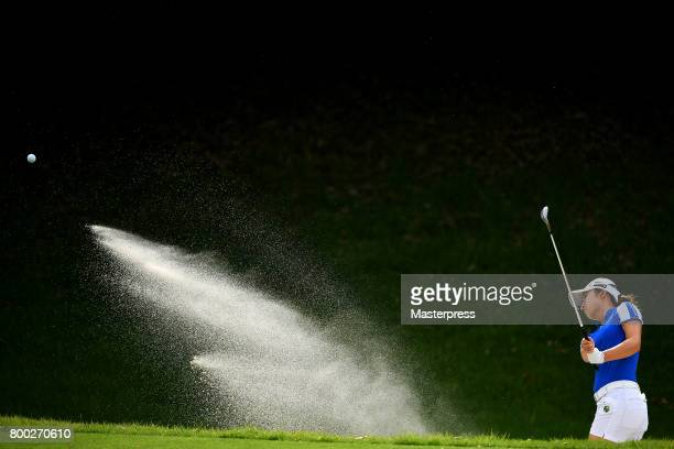Haruka Morita of Japan chips onto the 16th green during the third round of the Earth Mondamin Cup at the Camellia Hills Country Club on June 24 2017...