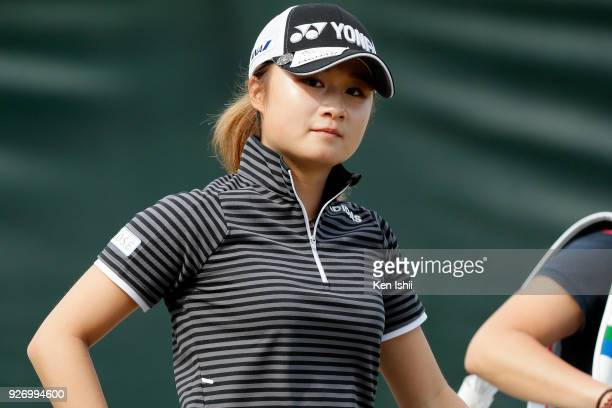 Haruka Morita of Japan looks on during the final round of the Daikin Orchid Ladies at Ryukyu Golf Club on March 4 2018 in Nanjo Okinawa Japan