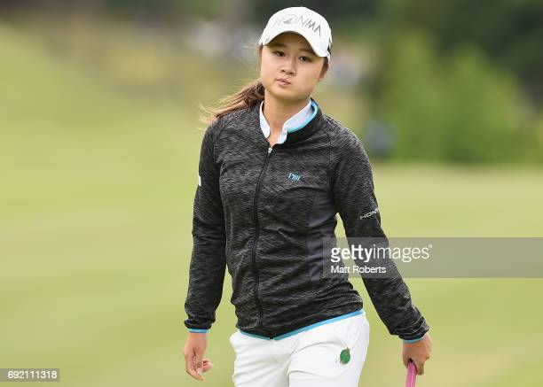 Haruka Morita of Japan looks on during the final round of the Yonex Ladies Golf Tournament 2016 at the Yonex Country Club on June 4 2017 in Nagaoka...