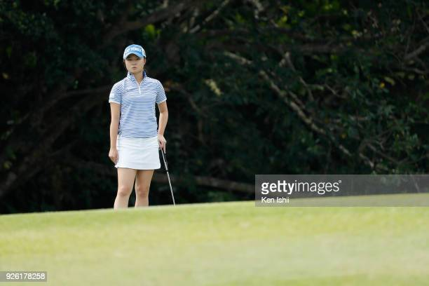 Haruka Morita of Japan looks on during the second round of the Daikin Orchid Ladies at Ryukyu Golf Club on March 2 2018 in Nanjo Okinawa Japan