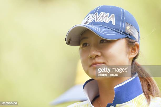 Haruka Morita of Japan looks on during the second round of the meiji Cup 2017 at the Sapporo Kokusai Country Club Shimamatsu Course on August 5 2017...