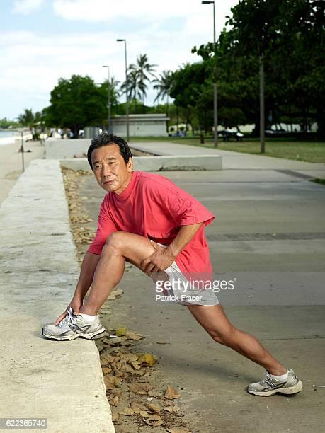 Haruki Murakami in Ala Moana Park Honolulu Hawaii