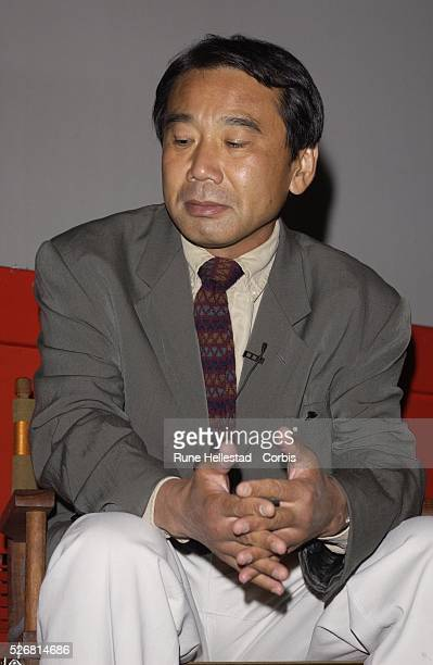 Haruki Murakami reads at a Waterstone's event at the Prince Charles Cinema in Leicester Square