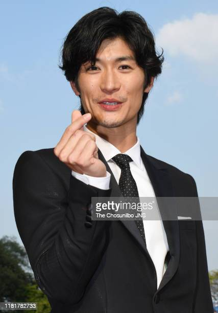 Haruma Miura attends '14th Seoul International Drama Awards 2019' at the Peace Hall in Kyung Hee University on August 28th 2019 in Seoul South Korea