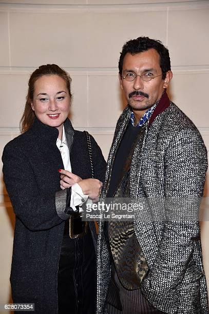 "Harumi Klossowska de Rola and Haider Ackermann attend ""Chanel Collection des Metiers d'Art 2016/17 : Paris Cosmopolite"" Show on December 6, 2016 in..."
