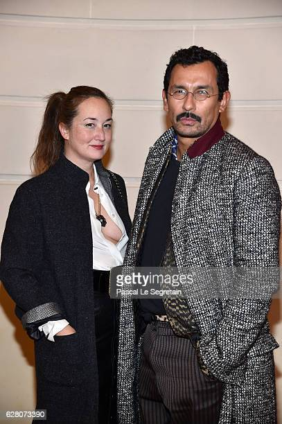 Harumi Klossowska de Rola and Haider Ackermann attend 'Chanel Collection des Metiers d'Art 2016/17 Paris Cosmopolite' Show on December 6 2016 in...