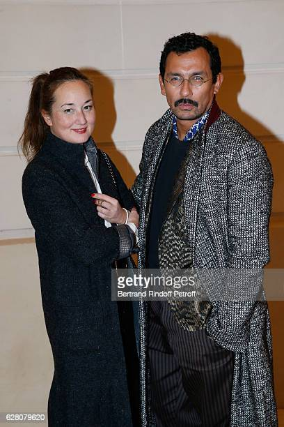 """Harumi Klossowska de Rola and Haider Ackermann attend the """"Chanel Collection des Metiers d'Art 2016/17 : Paris Cosmopolite"""" : Photocall at Hotel Ritz..."""
