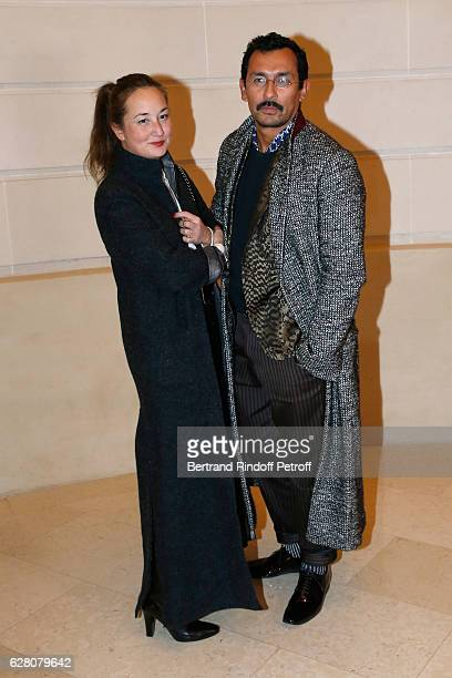 Harumi Klossowska de Rola and Haider Ackermann attend the 'Chanel Collection des Metiers d'Art 2016/17 Paris Cosmopolite' Photocall at Hotel Ritz on...