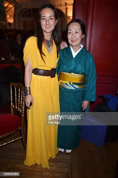 Harumi Klossowska de Rola and her mother Setsuko Klossowska de Rola attend the Christian Louboutin 20th Anniversary Book Launch at Christian...