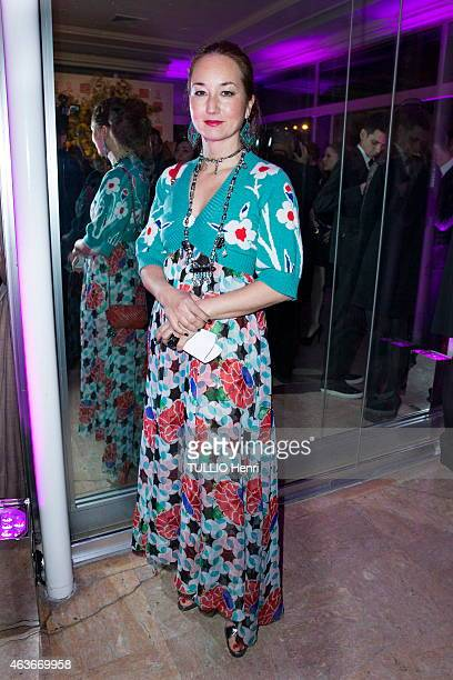 Harumi Klossowska de Rola attends the evening gala for the Sidaction 2015 on January 29, 2015 in Paris, France.
