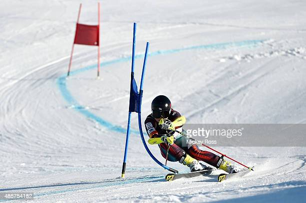 Haruna Ishikawa of Japan competes in the Alpine Giant Slalom FIS Australia New Zealand Cup during the Winter Games NZ at Coronet Peak on August 30...