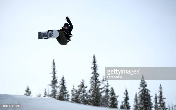 Haruna Matsumoto of Japan competes in the Ladies' Snowboard Halfpipe Qualifiers for 2018 US Grand Prix at Copper Mountain on December 6 2018 in...