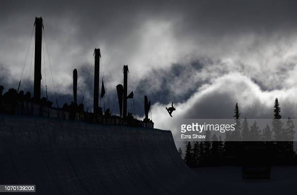 Haruna Matsumoto of Japan competes in the Ladies' Snowboard Halfpipe Finals at the 2018 US Grand Prix at Copper Mountain on December 8 2018 in Copper...