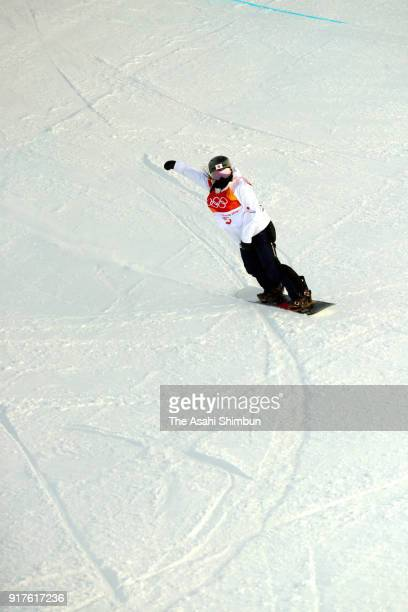 Haruna Matsumoto of Japan competes in the Snowboard Women's Halfpipe Final on day four of the PyeongChang 2018 Winter Olympic Games at Phoenix Snow...