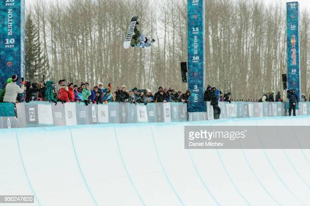 Haruna Matsumoto of Japan during Women's Halfpipe finals of the 2018 Burton US Open on March 10 2018 in Vail Colorado