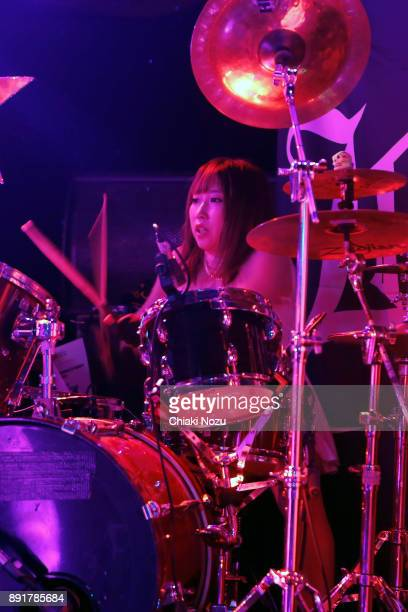 Haruna of Lovebites performs live on stage at Underworld on November 27 2017 in London England