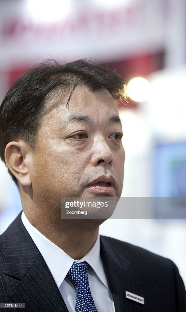 Haruo Matsuno, president of Advantest Corp., speaks during an interview in Chiba, Japan, on Friday, Dec. 7, 2012. Advantest Corp. is the world's biggest maker of memory-chip testers. Photographer: Tomohiro Ohsumi/Bloomberg via Getty Images